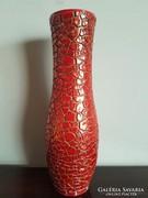 Zsolnay zsugormázas ökörvér váza