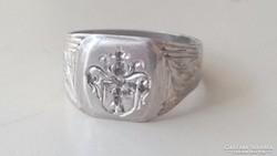 Antik, Nemesi címeres ezüst pecsétgyűrű