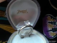 Különleges ezüst gyűrű,nagy cirkon kővel
