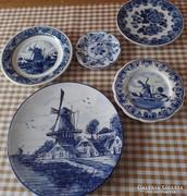 5 db Holland tányér