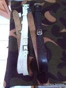 Katonai Antant szíj barna és fehér
