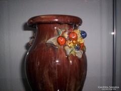 Antik SZÉCSI virágcsokros váza