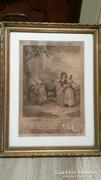 AKCIÓ! 1774-es régi metszet szép keretben eladó