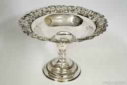 Szép antik ezüst asztalközép kínáló