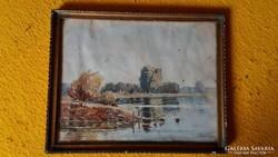 Tópart - Akvarell Szende szignóval