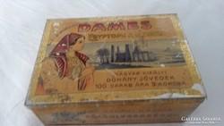 Ritka, különleges szivar, szivarka, fém doboz 1900-1910