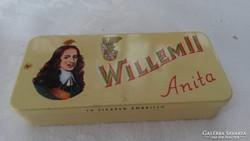 Willem II fém dísz doboz 2 db szivarkával