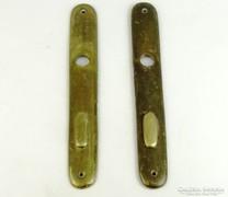 0K646 Antik réz ajtócím pár