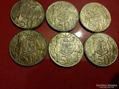 6db 800-as AG  1966 Austrál 50 cent