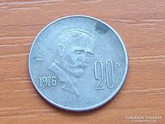 MEXIKÓ MEXICO 20 CENTAVOS 1976