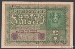 1919. Reichsbanknote, 50 R.Mark.