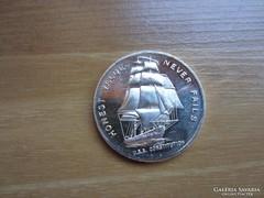 Usa Alkotmány Hajó ezüst érme 0.999 AG 1 uncia