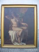 Szász István nagyméretű festmény, Akt fotelban