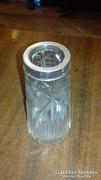 Ezüst szájú kristály váza