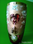 Antik Bohémia üveg váza