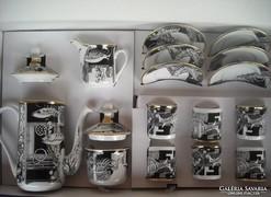 Szász Endre hollóházi kávéskészlet