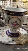 Fajansz régi kézzel festett csésze
