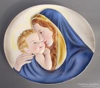 Keramos porcelán Madonna és kis Jézus