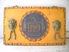 Antik réz oroszlános kulcstartó eladó!Esztergom.