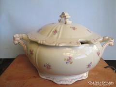 Antik Zsolnay barokk levesestál hibátlan a '30-40-es évekből