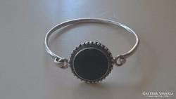 Ezüst karperec karkötő szép fekete onix kővel. 925.