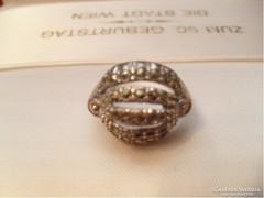 925-ös markazitokkal ezüst gyűrű