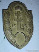 Plakett Levente időm emlékére 1944 pajzs címer