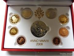 Vatikán 2008 - Tükörveretes EURO sor ezüst medállal