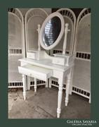 Romantikus fésülködő asztal,pipere asztalka