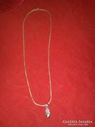 Italy Szépséges Szolid ezüst nyaklánc medállal