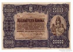 1922 25 000 korona VF.