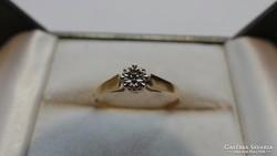 Arany Antik briliáns gyűrű 375 0,93 gramm