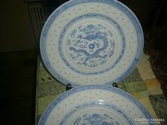 6 db  Kínai  tányér rizsszem mintás