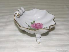 Antik Meissen tálka / gyürűtartó Bécsi rózsa mintás