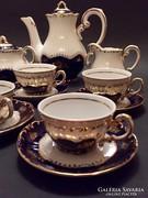 Zsolnay Pompadour I. Kávéskészlet 6 személyes