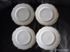 4 db Zsolnay hullámos szélű desszertes tányér