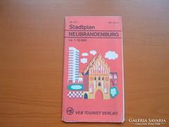 NEUBRANDENBURG NÉMET (NDK) VÁROSTÉRKÉPE 1980