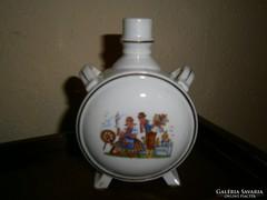 Holeczy Etus Kispesti porcelán  kulacs-közép méret