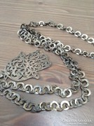 Régi ezüst nyaklánc medállal