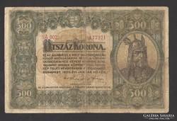 500 korona 1920. Nem javított!