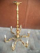 Barokk aranyozott tömör fa csillár 6 karos