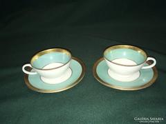 Retro 50-es évek kék Schaubach kávés csésze párban