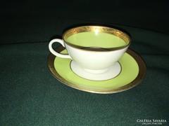 Retro 50-es évek zöld Schaubach kávés csésze