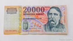 2008 évi  20.000.-Ft-os bankjegy , Bankfriss UNC
