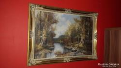 Eredeti antik festmény!Gyönyörű!