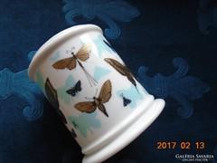 Aranypillangós porcelán tartó-számozott