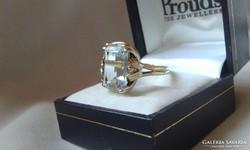 14 K.aranygyűrű  6.0ct Akvamarinnal