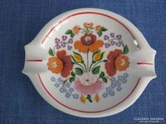 Hollóházi porcelán kalocsai mintás hamutartó hamutál