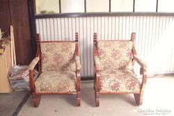 Biedermeier fotelok párban