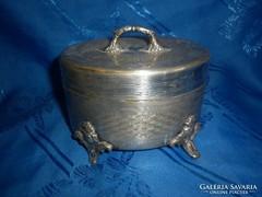 Antik ezüstözött ékszerdoboz